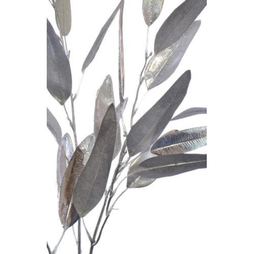Gałązka eukaliptus podłużny metalic 115cm silver