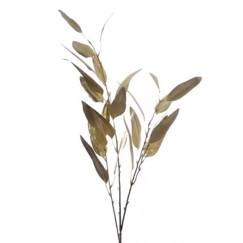 Gałązka eukaliptus podłużny- metalic 115cm gold