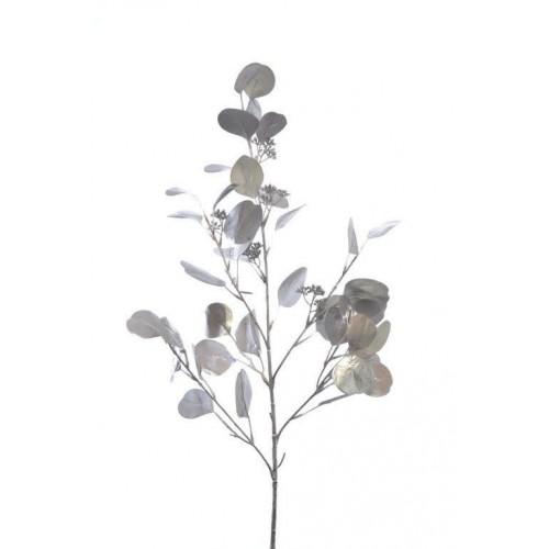 Gałązka eukaliptus metalic 87cm silver
