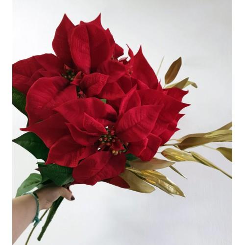 Bukiet poinsecja 62cm sun674 red