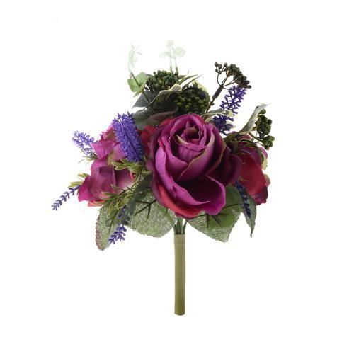 Róża - bukiet z dodatkami 34cm purple