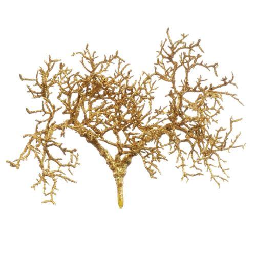 Gałązka bonsai brokat 45cm xtik001 old gold