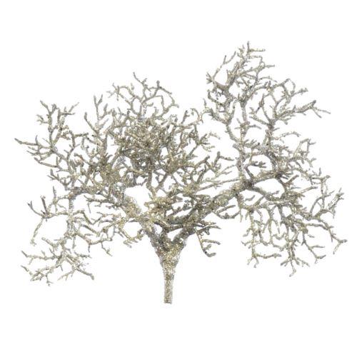 Gałązka bonsai brokat 45cm xtik001 champagne silve