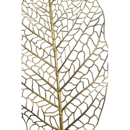 Liść ozdobny ażurowy 90cm x 24cm gold