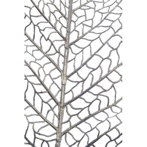 Liść ozdobny ażurowy 90cm x 24cm silver