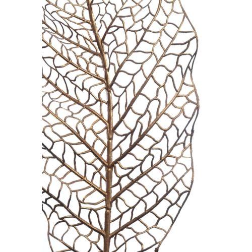 Liść ozdobny ażurowy 90cm x 24cm gold pink