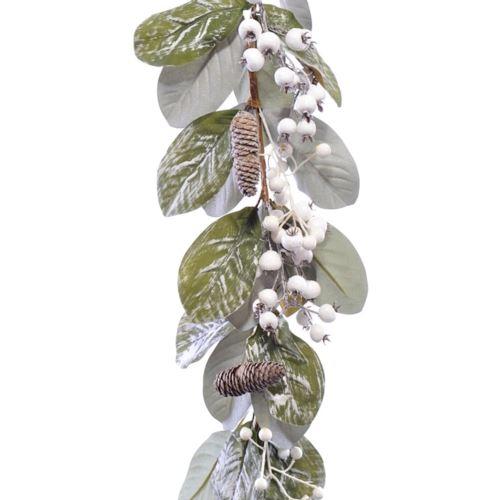 Girlanda z liści owoców bialej dzikiej rózy 180cm