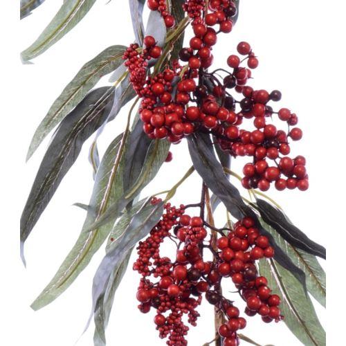 Girlanda z owoców jarzębiny czerwonej 180cm