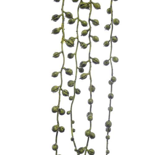 Kulki ozdobne c.zielone na piku 90cm 4szt dk gr