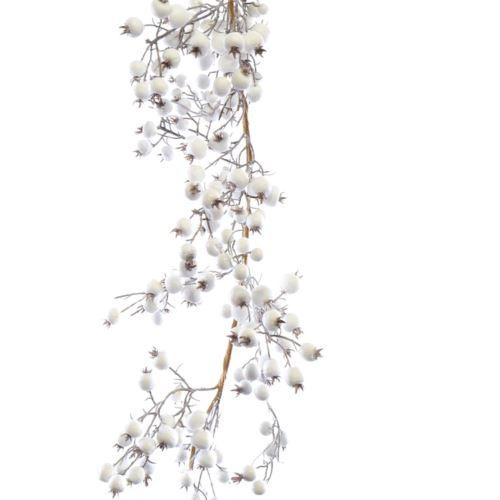 Girlanda z bialej dzikiej rózy 180 cm