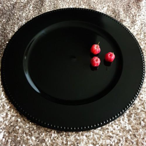 PODKŁADKA PODTALERZ ZDOBIONY RANT 33cm BLACK