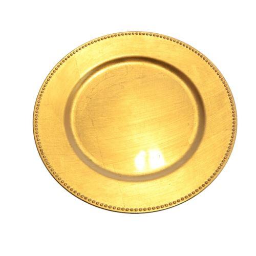PODKŁADKA PODTALERZ ZDOBIONY RANT 33cm GOLD