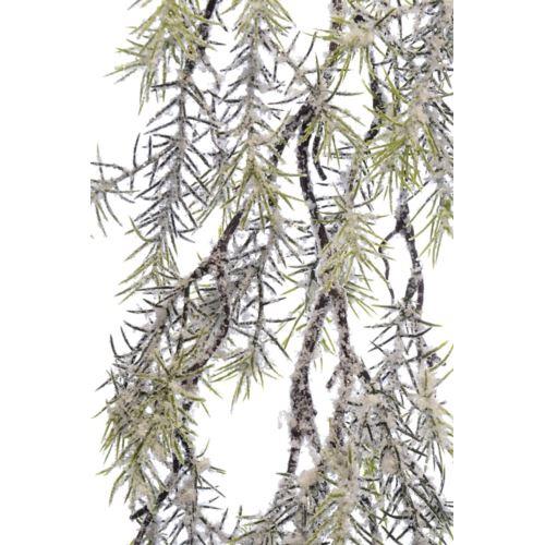 Galązka  zwis  brokatowana ośnieżona 72cm