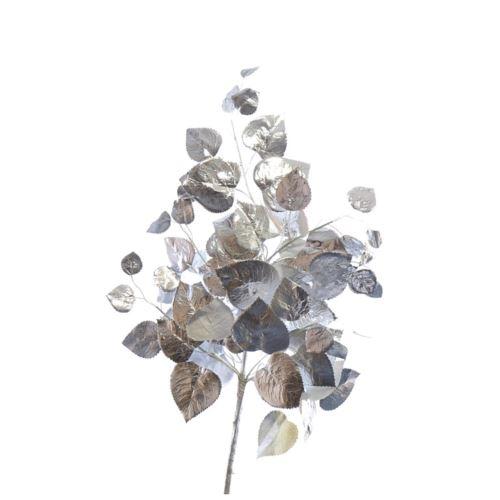 Gałązka srebrnych liści 80 cm silver