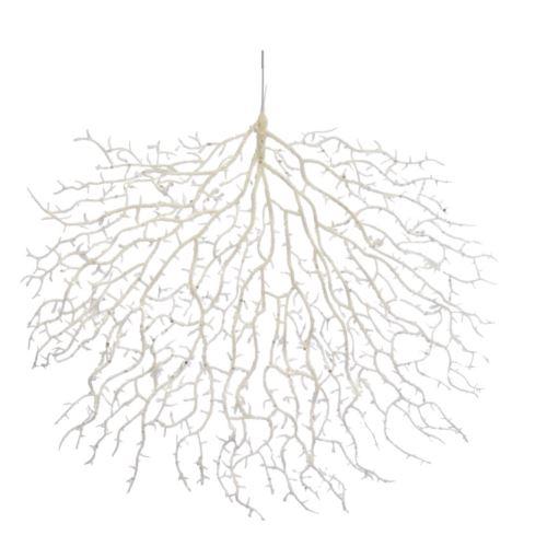 Gałązka zimowa koralowiec broka 40cm x 40cm white