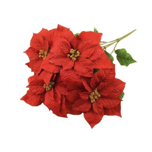Gwiazda betlejemska poinsecja bukiet 50cm red