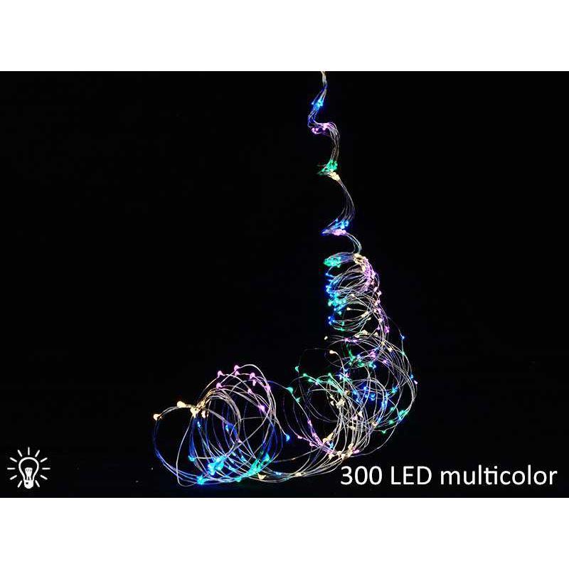 Lampki led drucik 300 led multikolor