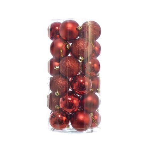 BOMBKA PLASTIK 6CM 30SZT/OPAK XB006030  MIX RED