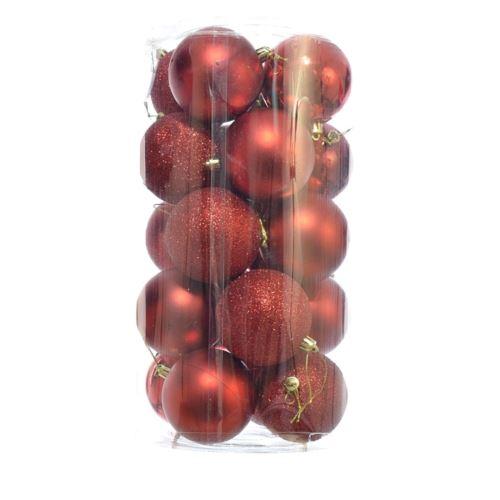 BOMBKA PLASTIK 8CM 20SZT/OPAK XB00820  MIX RED