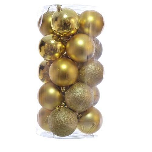 BOMBKA PLASTIK 6CM 30SZT/OPAK XB006030  MIX GOLD