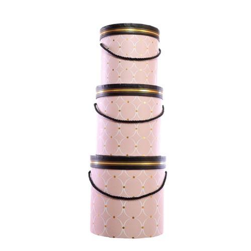 Pudelko ozdobne flowerbox 3szt/komp pink