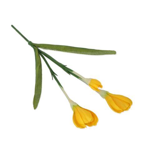 Krokus x3 28cm yellow