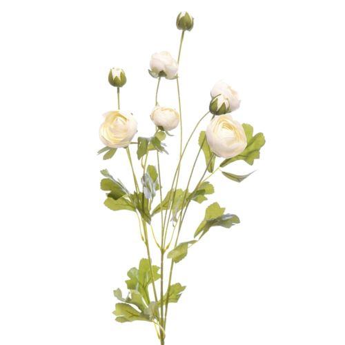 Gałązka pełnik - ranunkulus 84cm cv11334 white cr