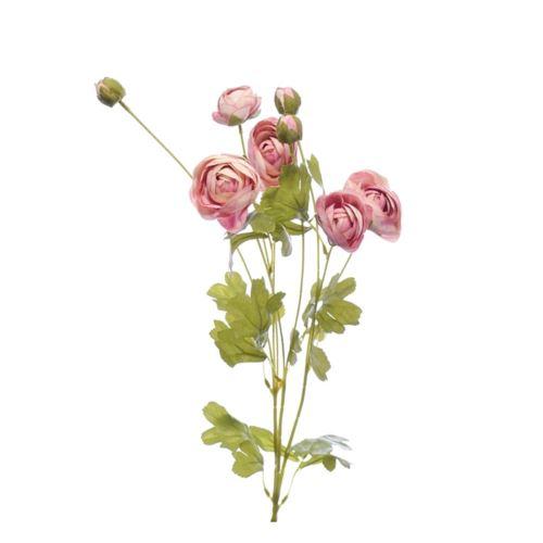 Gałązka pełnik - ranunkulus 84cm cv11334 lt pink
