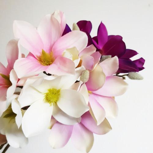 Gałązka magnolia SUN488 WHITE