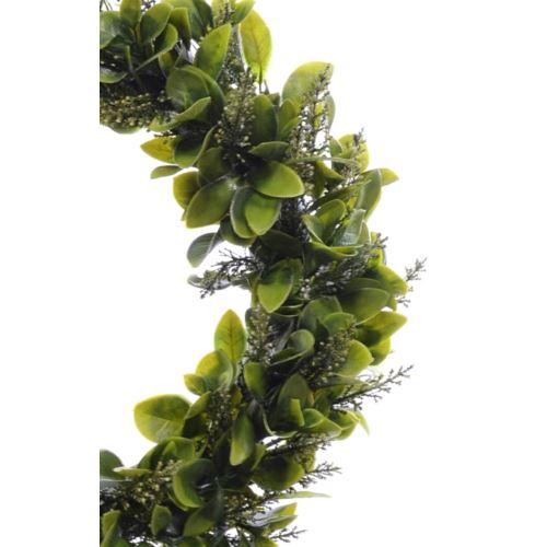 Wianek Liściasty z wrzosem 40cm green