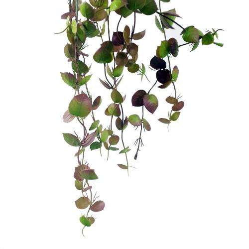 Gałązka zwisająca z listkami 76cm green-burgundy