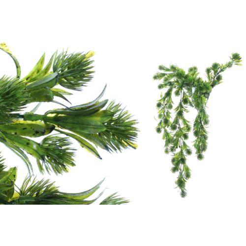 Gałązka zwisająca z zielonymi dodatkami 72 cm gree