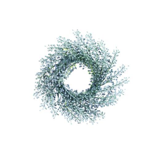 Wianek z gałązek z kulkami o  23 cm  powder green