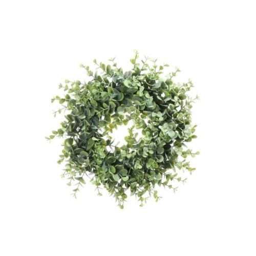 wianek z zielonych bukszpanu  30 cm  lt green