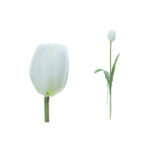 Pojedynczy tulipan guma natural touch 40cm  white