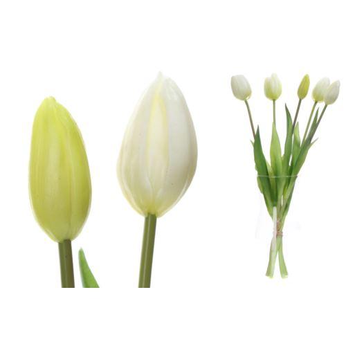 Pęczek pięciu tulipanów x5 guma natural touch 40cm