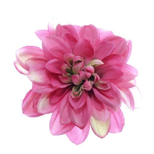 Dahlia dalia head zq011 14cm green pink