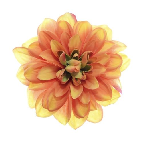 Dahlia dalia head zq011 14cm orange tea
