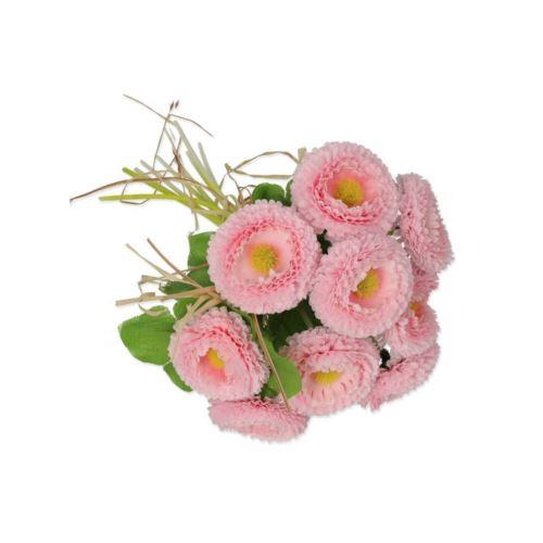 Stokrotka pęczek z rafią /1866 18cm lt pink