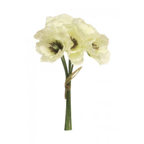 Poppy bundle white 29cm