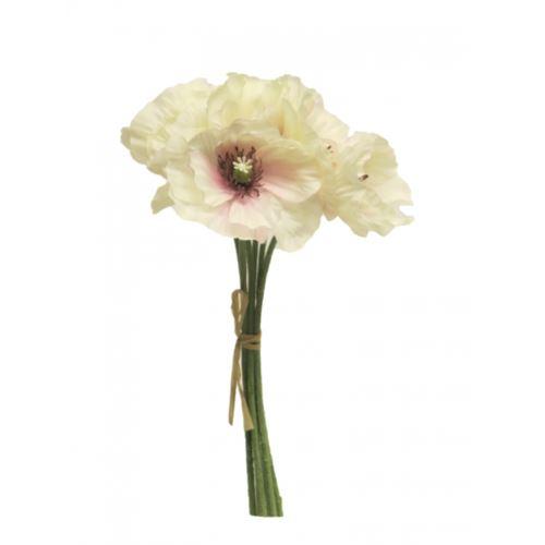 Poppy bundle 29cm cream pink
