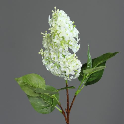 Gałązka bez - Lilac spray 52 cm   white-green
