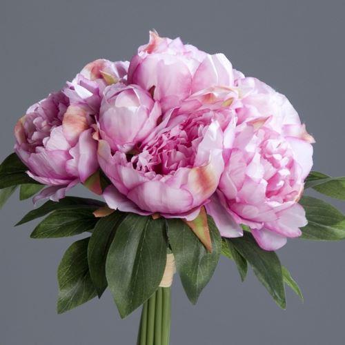 Peonia w bukiecie - Peony bouquet 35 cm lavender