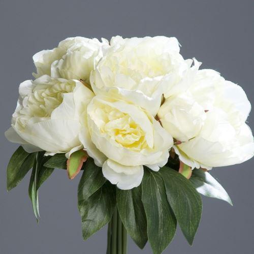 Peonia w bukiecie -  Peony bouquet 35 cm cream