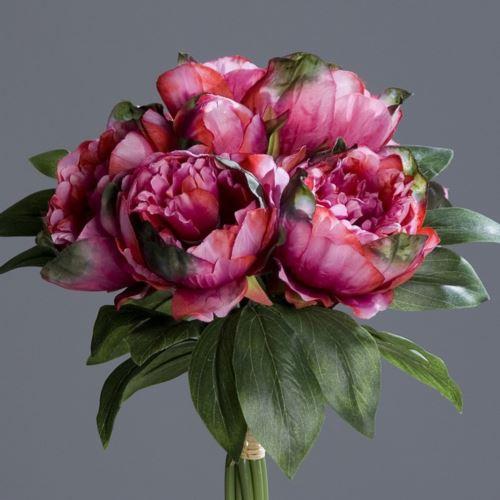 Peonia w bukiecie - Peony bouquet 35 cm fuchsia