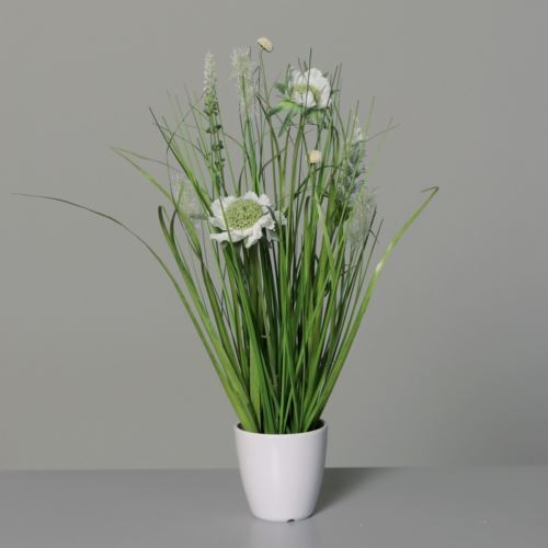 Łąka trawa w doniczce 34 cm 34 cm cream