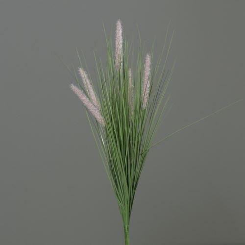 Trawa w bukiecie z kłosami 60 cm light-pink
