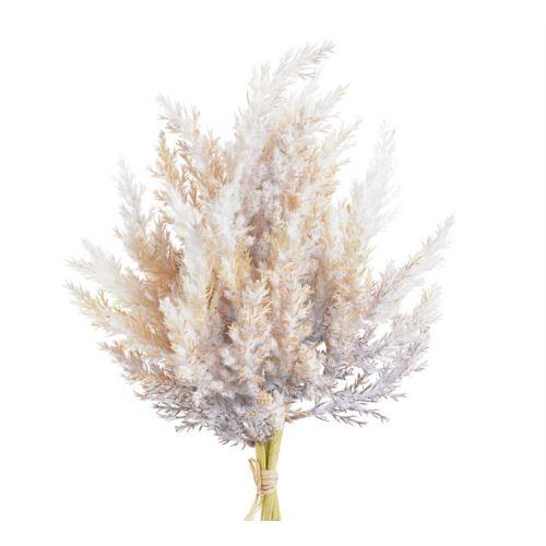 Sztuczna Trawa Pampasowa bukiet 35cm White beige