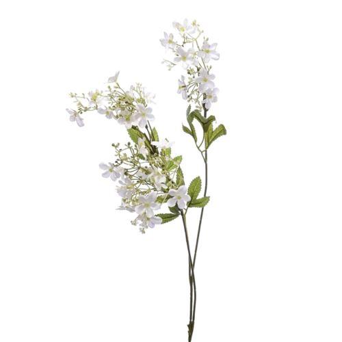 Galązka bialych drobnych kwiatów na lodydze 85cm