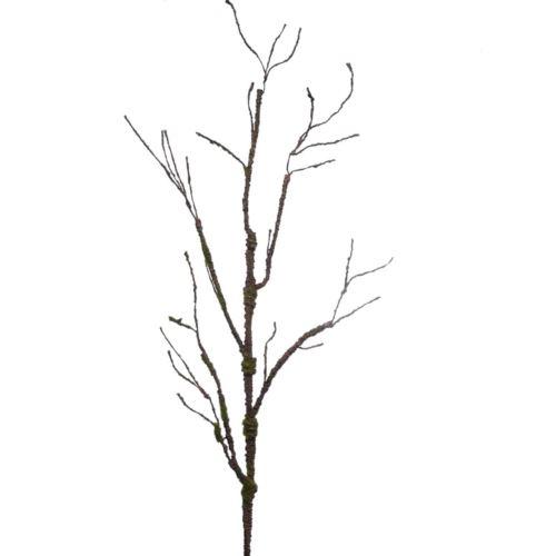 Gałąź plastyczna porośnięta mchem 110cm brown